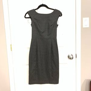 NWT Banana Republic Grey Grid Dress